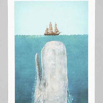 Terry Fan The Whale Art Print- Multi One