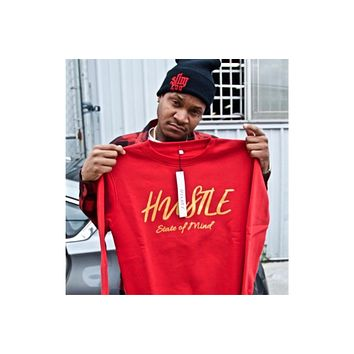 Sweater - Blood Red Hustle State of Mind Crewneck