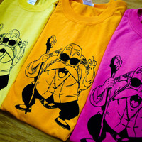 Dragonball Z Inspired Master Roshi Screenprinted T-Shirt