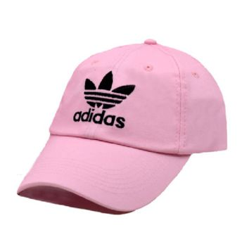 Pink Adidas Embroidered 100% Cotton Adjustable cotton cap
