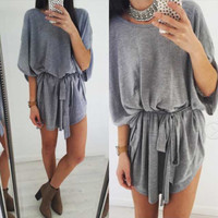 Loose Grey Couture Dress