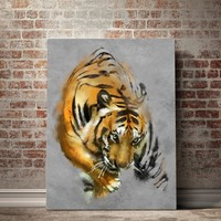 Crouching Tiger Painting Canvas Set