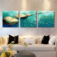 Canvas paintings print wall pictures for living room art oil modern 3 piece flower modular painting No frames
