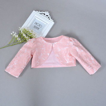 Baby Girl Cardigan Pink Baby 100% Cotton Shrug Sweater For 1 Years Old Baby Clothes 2017 Spring Shawl Girls Clothes ABC165001