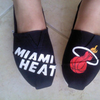 Miami Heat custom TOMS shoes Hand painted by CatalindaOFFICIAL