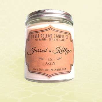 Personalized Wedding Gift, Wedding Favor, Wedding Favor Candle, Wedding Gift, Couple Gift, unique engagement gift, custom Engagement Gift