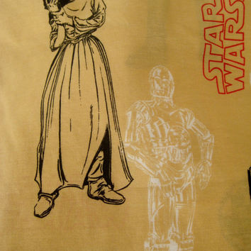 HTF Star Wars Bedding TWIN Size Flat Sheet Boy Bedding Kids Bedding Star Wars Craft Fabric 1997 Gently USED Clean