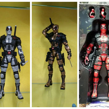 Super Hero In stock Marve Deadpool  x man new arrival  Anime figures X-men Deadpool 10 inch Action Figure Collection Model Tyrant Edition deadpool exclusive