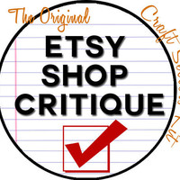 Etsy Shop Critique - Personalized Detailed Etsy Shop Analysis SEO