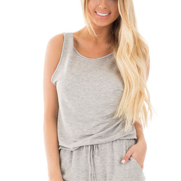 Grey Strappy Top and Short