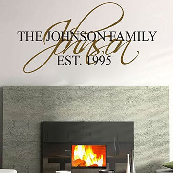 Family Name Monogram Vinyl Wall Words Decal Sticker Graphic