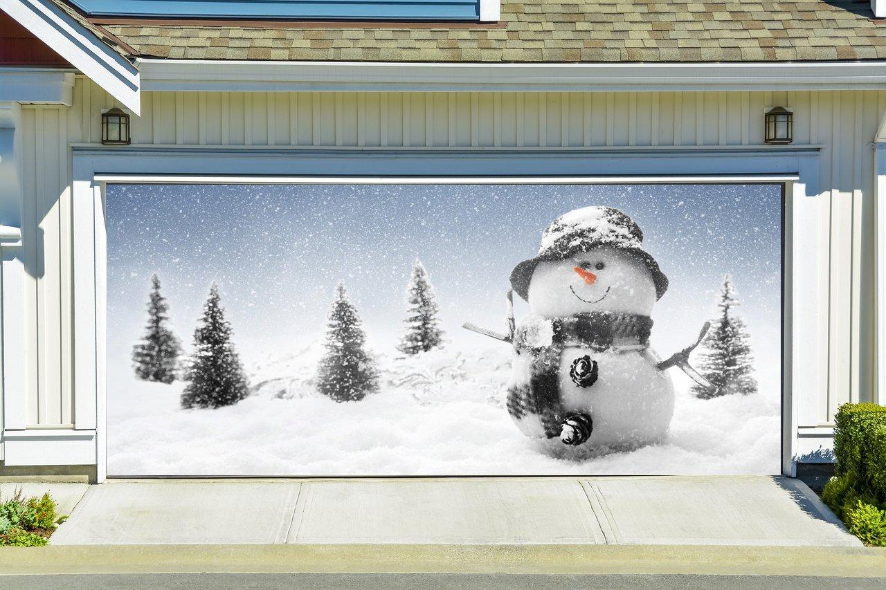Christmas garage door cover banners 3d from amazon christmas for Christmas garage door mural