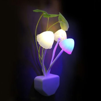 Fantastic Mushroom Light Sense Control Led Night Wall lamp = 5987718145