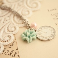 I will be waiting time charm necklace in silver by shopjmp