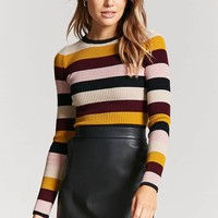Cropped Stripe Sweater
