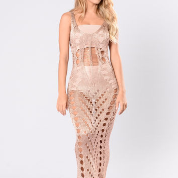 On Point Dress - Rose Gold