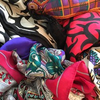 Save!!! #Vintage #scarf bundle! 5 silk and wool scarves from ...