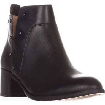 Franco Sarto Richland Studded Ankle Boots, Black, 7 US / 37 EU