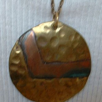 Copper Brass Art Deco Style Necklace Fab Chain Modernist Style Vintage Jewelry