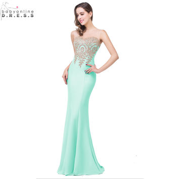 Robe Demoiselle D'honneur 11 Colors Lace Mermaid Mint Green Navy Blue Bridesmaid Dresses Long 2016 Vestido Madrinha Casamento