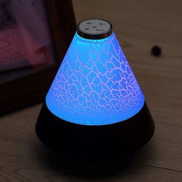 Mini Subwoofer  Multicolor Romantic Light Up Wireless Bluetooth Speaker for iPhone 7 7Plus & iPhone 6s 6 Plus & Android Christmas Gift