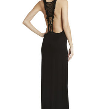 Crochet-Back Maxi in Black - BCBGeneration