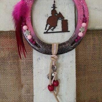 Horseshoe Decor, Decorated Horseshoe, Gift for Horse Lover, Equestrian Gifts, Horse Decor, Cowgirl Bling, Gift For Her, Horse Gift