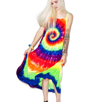 Cali Kind Day Trippin' A-Line Dress Tie Dye