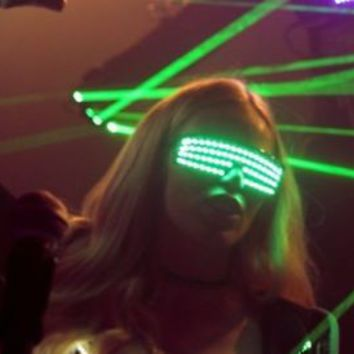 Led Glasses, Rave Glasses, Party Glasses, Led Costumes, Rave Clothing, Rave Wear