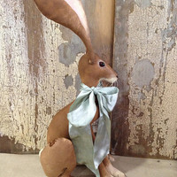 Miss Hickory Hare: vintage style, soft sculpture (hare, rabbit, bunny) by Pennybright Studios