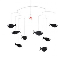 Shoal of Fish - Flensted Contemporary Baby Mobiles at MOOD