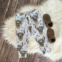 Hipster Deer Baby Boy Leggings // Baby Leggings // Boy Leggings