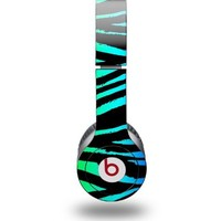 Rainbow Zebra Decal Style Skin (fits Beats Solo HD Headphones - HEADPHONES NOT INCLUDED)