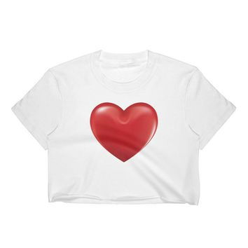 Heart shape Women's Crop Top,valentine's day, gift for wife, gift for girlfriend,gift for daughter