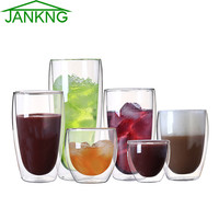 1 Pcs Heat-resistant Double Wall Glass Cup Coffee Cup Set Handmade Creative Beer Mug Tea Mugs