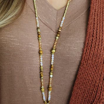Feel The Magic Necklace: Gold/Multi