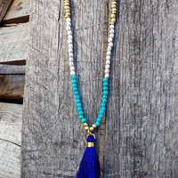 Twilight Tassel Necklace