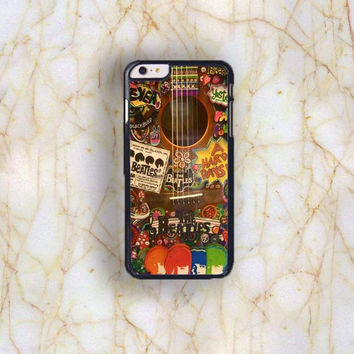 Dream colorful Dream colorful The Beatles Guitar Plastic Case Cover for Apple iPhone 6 Plus 4 4s 5 5