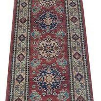 3 x 10 Red Carpet Hallway Runner Rugs 100% Handmade Original Kazak Wool Runner