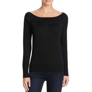Magaschoni Womens Silk Blend Off-The-SHoulder Casual Top