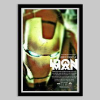 Iron Man - 12x18 - Movie Poster - iron man, movie poster, film, marvel, avengers, geekery