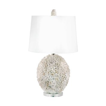 505 Hand Applied Natural Shells Table Lamp