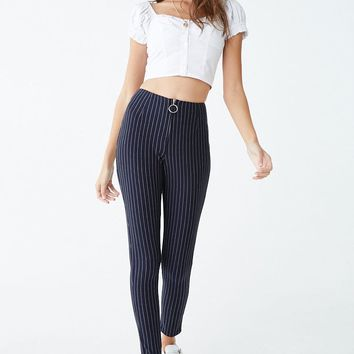 Pinstriped Skinny Pants