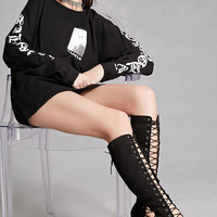 Knee-High Lace-Up Boots