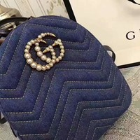 GUCCI BLUE JEANS SHINING PEARL GG SMALL BAG SHOULDER BAG A-ZQXH-CJGFBB