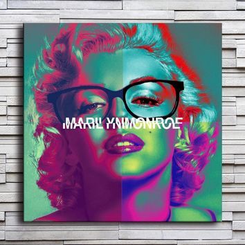 Marilyn Monroe  HD Canvas print Oil painting Art Fashion Beauty Wall art Home decoration sitting room the bedroom Poster