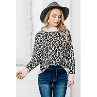 Always Fierce Cheetah Print Sweater