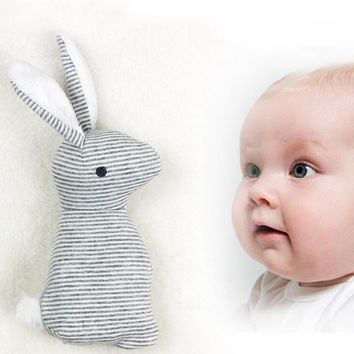 20*8CM Baby Toys 0-1 Year Rattles Mobiles Cute Rabbit hand grab stick BB stick ring baby plush toys P15