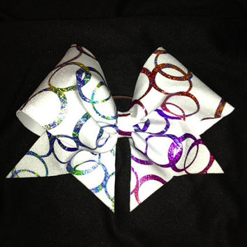 Metallic cheer bow