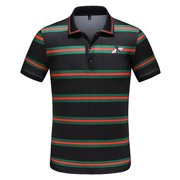 Gucci Fashiom Men Casual Stripe Bee T-Shirt Top Tee